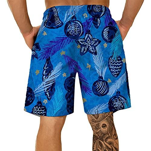 BIBOKAOKE Zwembroek voor heren, grote maat, zomerbroek, mode, 3D-palmen, bedrukte zwembroek, strandshorts, losse surfen, duikshorts, ademend, boardshorts, vrije tijd, sportbroek, joggingbroek