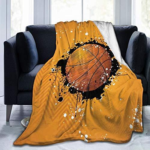 Manta mullida con patrón artístico abstracto con formas de Ogee con puntos, manta suave para cama de dormitorio de 80 x 60 pulgadas