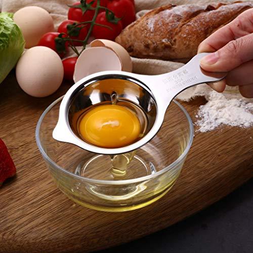 dedepeng Cooker Ei-Separator 304 Edelahl iel Eidotter Weiß Filter Divider Baen Kochen Küchenhelfer Eierkocher