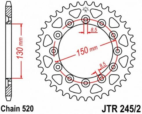 JT Sprockets JTR300.46 47-Tooth Steel Rear Sprocket