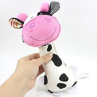 c55afaad1bbc0 Jouet mignon Animal de bande dessinée animaux en peluche hochets de vache  bébé jouets pour enfants