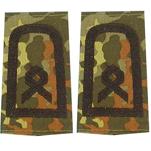 Unbekannt Bundeswehr Rangschlaufen (Heer) Hauptfeldwebel Farbe: Flecktarn Stickerei: Schwarz 1 Paar BW
