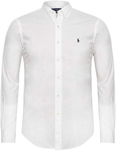 Polo Ralph Lauren Camisa Basic Blanco para Hombre