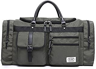 Travel Duffel Bag Business Weekend Tote Gym Sports Foldable Canvas Water-Resistant Luggage Bag 45L 60L #806