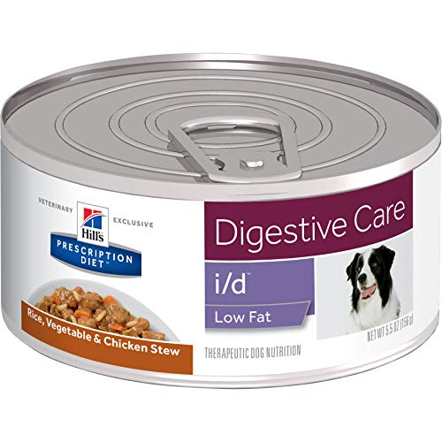 Hill's Prescription Diet i/d Low Fat Digestive Care Rice, Vegetable & Chicken Stew Canned Dog Food, 5.5 oz, 24-pack wet food