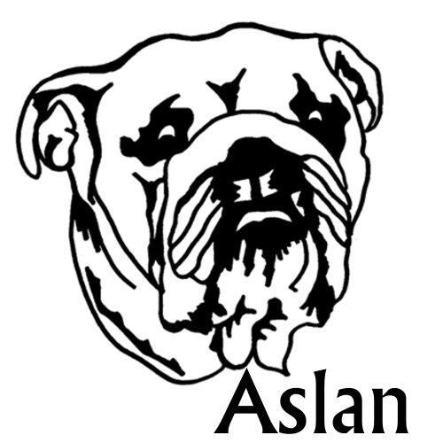 Heckscheiben Aufkleber Hund 'Englische Bulldogge mit Name' ca. 20x20cm, Motiv NB-Hund11