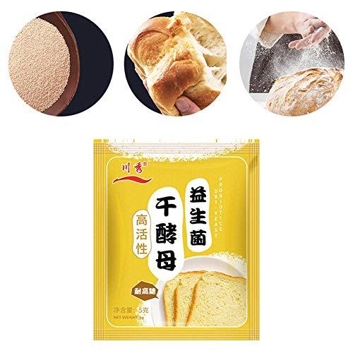 10 Zakken Actieve Gedroogde Gist Brood Biologische Instant Gist Pakketten Hoge Activiteit Gezond Probiotisch Droog Gist Poeder Voor Huishoudelijk Gebruik Brood Bakken, 5 G/Zak