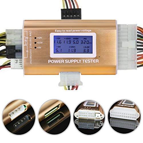LEAGY 20 24 4 6 8 Pin LCD da 1,8 PC Tester di Alimentazione per PC per SATA, IDE, HDD, ATX, ITX, BYI, BTX, PCI-E, connettori Color Oro