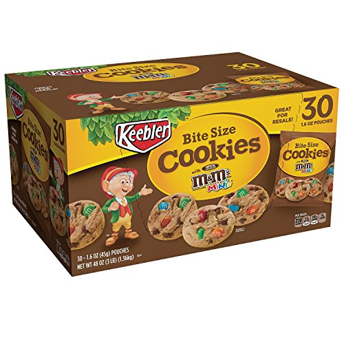 Keebler Bite Size Chocolate Chips Cookies With m&m's, 1.6 Oz Bag (Pack of 30)