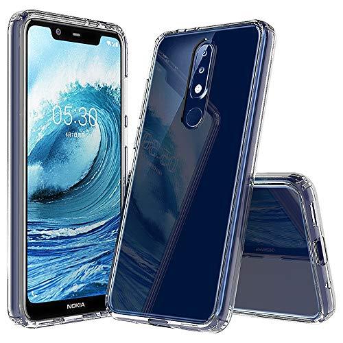 YUNCHAO Caso del teléfono Nokia Funda Protectora de TPU acrílico a Prueba de arañazos for Nokia 5.1Plus Caja del teléfono Celular (Color : Traparent)