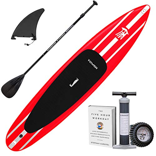 "Tower iRace Inflatable 12'6"" Stand Up Paddle Board - (6 Inches..."