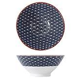 GAXQFEI 1Pc de Fideos Sopa de Sopa de Cuenco Vajilla Vajilla Japonés Estilo Tradicional Arroz Cuenco Inflame Pintura Suave Lavaplatos Seguro Seguro Regalo, 12 Colores,Azul Marino # B,900Ml