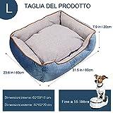 Zoom IMG-2 docatgo letto per cani 80x60x25cm