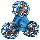 Fidget Spinnes, Flying Drone De Juguete, El Alivio Del Estrés Alivio De La Ansiedad De La Persona Agitada Triángulo Rotación Spinning Juguetes Divertidos Aviones, Alternativos A Los Videojuegos,Azul