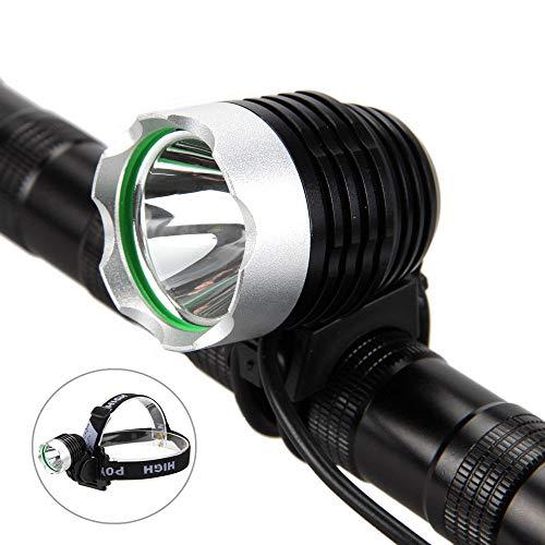 Glowjoy LED Fahrradbeleuchtung,StVZO Zugelassen Fahrradlicht Fahrradlampe,Wiederaufladbare 5000Lm CREE XML T6 LED Fahrrad Frontlicht Wasserdicht Fahrradleuchte