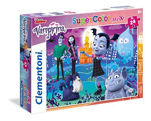 Clementoni-Clementoni-24499-Supercolor-Vampirina-24 Maxi Puzzle 24 Piezas Vampirina, Multicolor (24499.7)