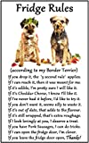 Fridge Magnets Border Terrier Gift - Fridge Rules - Large Fun flexible size 16cms x 10 cms (approx. 6' x4')