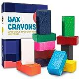 MUSCCCM Crayones para Niños, 12 Colores Crayones en Bloque Lavables para Pintar Dibujo Juguetes Regalo para Bebé Niños y Estudiantes