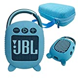 Hard Carrying Case and Silicone Cover for JBL Clip 4 Portable Bluetooth Speaker, Protective Travel Case Storage for JBL Clip 4 (Hard Case+Silicone Cover) (Blue) -  JCHPINE