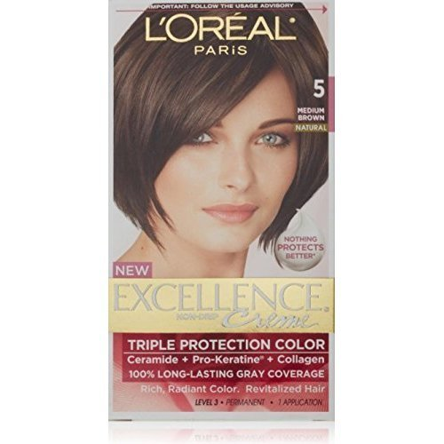 L'Oreal Excellence Creme, Medium Brown [5] 1 Each...