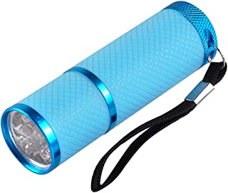 ZUHANGMENG - Secador de uñas de gel de secado rápido para uñas y dedos de los pies, lámpara UV portátil de 12 W, funciona con pilas
