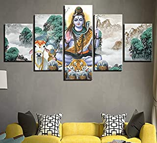 HNFSSK Modern Decorative Painting Inkjet Home Bedroom Multi-Religious Classical Paintings Indian Gods Living Room Poster Stickers