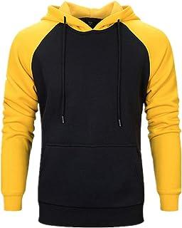 SHYY Felpa con Cappuccio da Uomo Manica Lunga Felpa con Cappuccio Basic Foderata in Pile Sweatshirt Sportivo Caldo Top Pul...