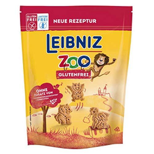Leibniz Zoo glutenfrei - lustige fantasievolle glutenfreie und laktosefreie Kekse in Fabelwesen-Form-leckeres Gebäck für die ganze Familie, 100 g