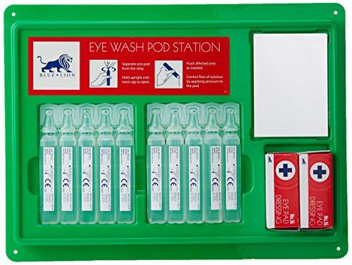 Steroplast Station de nettoyage pour yeux avec miroir, 2 cotons et 10 pipettes