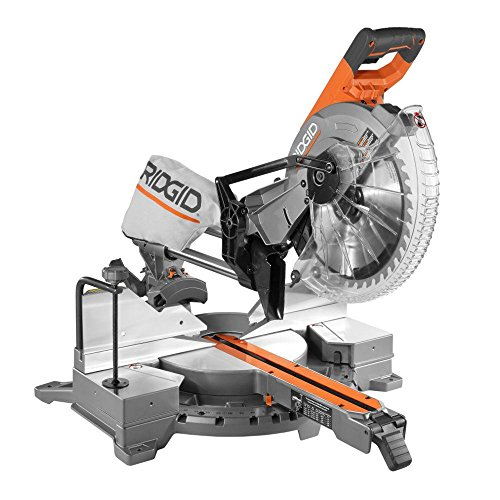 RIDGID 15 Amp 12 in. Corded Dual Bevel Sliding Miter Saw with...
