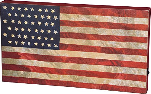 """LED Box Sign - """"USA Flag"""" 18"""" x 10"""""""