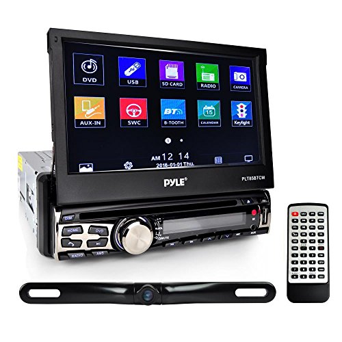 Pyle PLT85BTCM CD/DVD Player Bluetooth Wireless Streaming Hands-Free Talking SB/MP3/AUX/AM/FM Radio Stereo Receiver Black