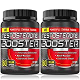 2 Pack Testosterone Booster for Men, Test Booster Capsules Maximizes Muscle, 1200MG Double Strength 60 Capsules 30 Days Supply