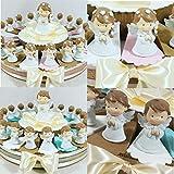 Torta bomboniera Comunione Femmina Maschio Confetti crispo Oggetti Immagine Sacra della Comunione (Torta Bimbi angioletti Comunione 20 fette)