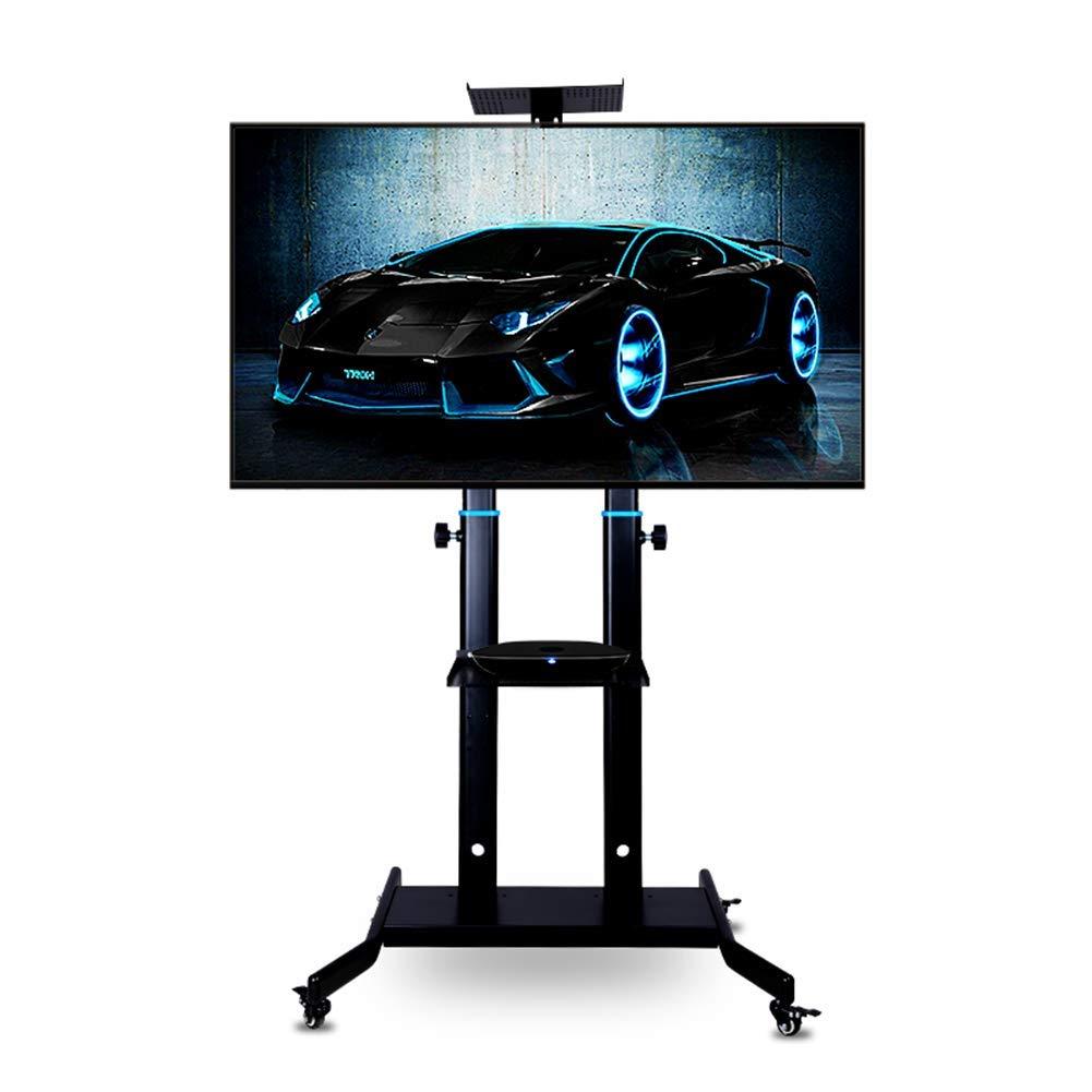 TV móvil de la compra, Palo de Bases para TV con estantes de almacenamiento y de