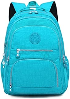 ZJJUN New Backpack Backpackages School Backpackage for Teenage Girls Female Laptop Bagpackage Travel Bag, Size:33X16X47cm(Black) (Color : Light blue)