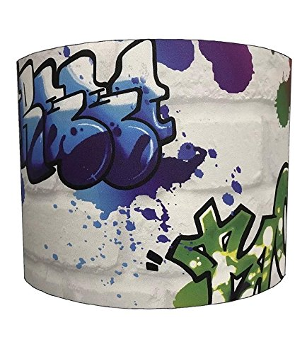 DELPH DESIGN LIGHTING LTD 30,5cm Table Rasch Graffiti Street Art Lampshades