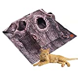Cat Activity Play Rug, Durable Cat Play Mat, Clean and Space-Saving Fun Interactive Play Training Scratching Mat for Interacting with Cats (Tree Pattern)