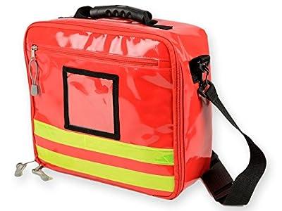 GIMA Cube Bag in PVC, Red, emergency, trauma, rescue, medical, first aid, nurse, paramedic multi pocket bag, 28x34x13 cm from GIMA