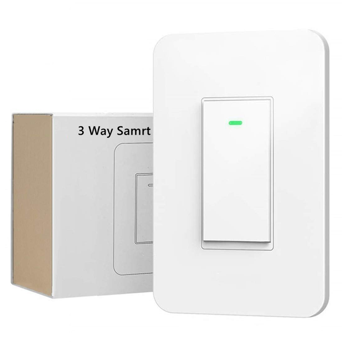 3-Way Smart Wi-Fi Wall Light Switch Work with Amazon Alexa Google Assistant, Timing Function No Hub Required (3 Way Smart Switch 1- Pack)