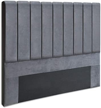 Artiss Double Size Velvet Uphostery Bed Headboard, Grey