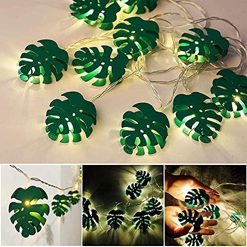Leaf String Lights,2M Leaf LED String Lights 10 LED Leaf Garland with Lights Artificial Ivy Leaves String Lamp Hanging Lights for Bedroom Party Home Decoration