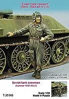 タンクモデル T-35146 1/35 ソビエト 戦車兵 1943-45 夏