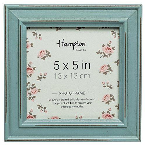 Hampton Frames - Marco de Fotos Cuadrado, Azul, 5x5 (13x13cm)