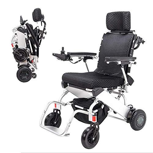 PLLP Medizinischer Reha-Stuhl, Rollstuhl, Elektrischer Rollstuhl, Moderner Intelligenter Dauerhafter Vier-Rad-Behinderter Älterer Faltender Bequemer Elektrischer Rollstuhl Im Freien (Lithium-Batterie