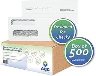 ABC Self Seal Security Envelope, Business Checks, 8 5/8 X 3 5/8 - 500 Envelopes