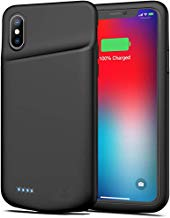Battery Case for iPhone Xs Max, 6500mAh Portable Protective Charging Case Compatible with iPhone Xs Max (6.5 inch) Rechargeable Extended Battery Charger Case (Black)