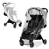 Hrzeem Universal Stroller Rain Cover and Mosquito Net (2 Pieces), Travel Weather Shield for Windproof, Waterproof, Protect from Sun Dust Snow