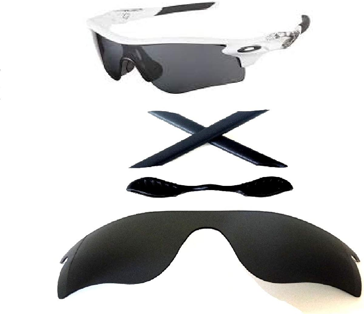 Galaxy Cash special price Replacement Lenses + High quality new Nose Pad Radar For Oakley Earsocks