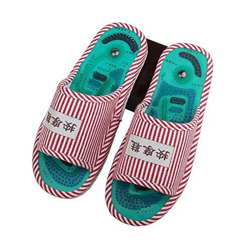 SHANGXIAN Sommer Fuß Massage Schuhe Haushalt Innen Massage Hausschuhe Rutschfest Fuß Gesundheit Massageschuhe,A,36~39